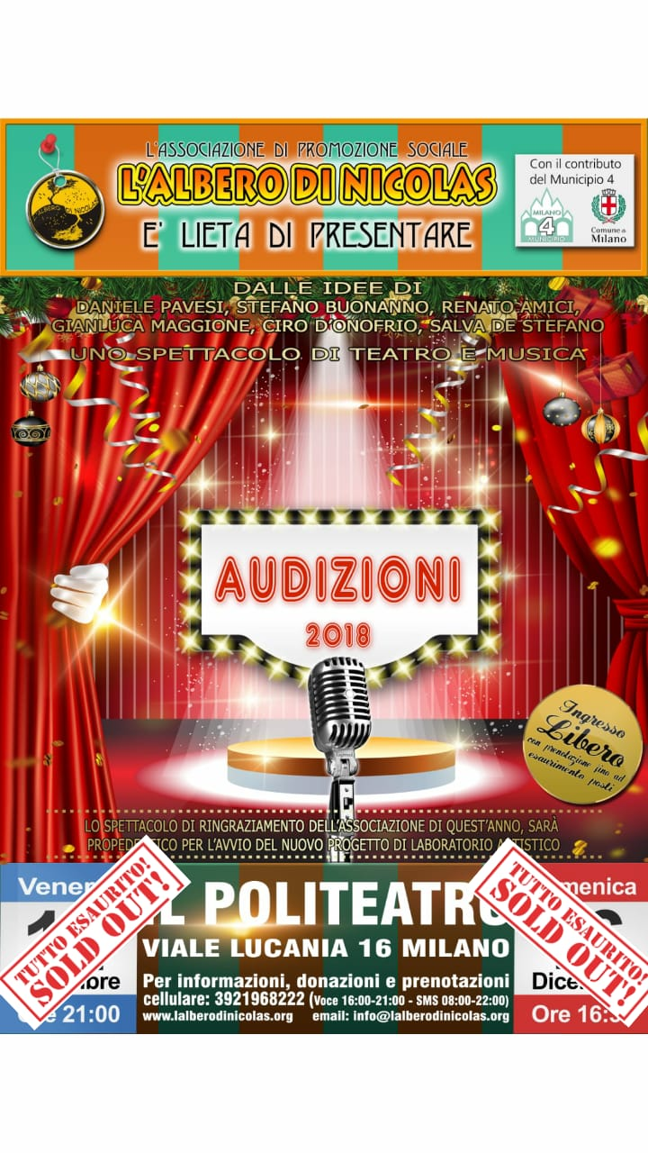SOLD OUT AUDIZIONI 2018